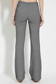 Flare Pants Pattern Cool Lyst Forever 48 Geopattern Flared Pants You've Been Added To The