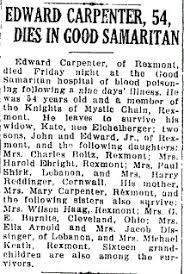 Edward Adford Carpenter (1879 - 1934) - Genealogy