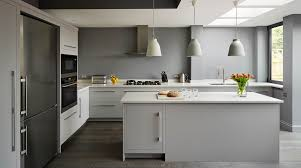 Kitchen Shades Linear Kitchen In Shades Of Grey From Harvey Jones