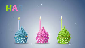birthday cupcake with candle. Brilliant Candle Happy Birthday With Cupcakes And Candles On A Blue Background 4K Ultra  High Definition Motion Motion Background  Videoblocks Throughout Birthday Cupcake With Candle K