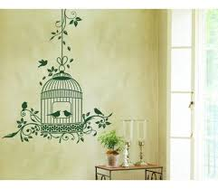 romantic bird cage wall decal sticker
