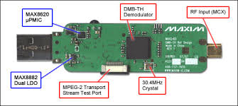 max2165 dmb th usb dongle reference design reference schematic the reference design for the compact dmb th usb dongle features the