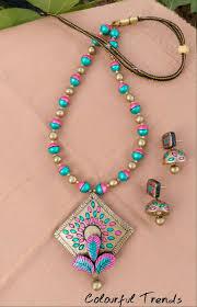 Funky Necklace Designs Pin By Lopamudra Muduli On Terakota Terracotta Jewellery