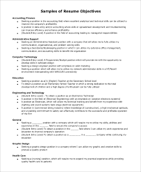 Sample Resume Objectives Adorable 28 Sample Resume Objective Examples Sample Templates