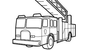 Small Picture Fire Truck Outline Coloring Page Fire Truck Coloring Pages