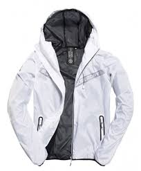 Superdry Jacket Size Chart Superdry Mens Optic White Core Cagoule Zip Waterproof