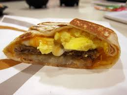 taco bell breakfast crunchwrap. Plain Bell Taste Test Taco Bell  Country And California AM Crunchwrap To Breakfast