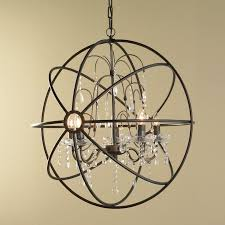 charming sphere chandelier light at crystal chandeliers modern innovative orb