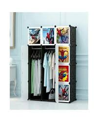 12 cubic diy plastic clothes organizer kids baby wardrobe cabinet spiderman