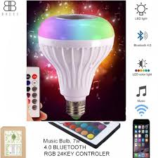Smart Music Lighting Speaker Manual Led Smart Light Bulb Speaker Music Bluetooth Speaker Audio Lamp Wireless Remote Control Rgb Color Changing Light Bulb