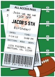 Football Invitation Template Football Invitation Template Football Birthday Party Invitations
