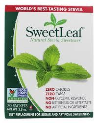 sweetleaf 100 natural stevia sweetener 70 x 1g packets at luckyvitamin