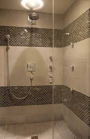 Showers | Brown Mosaic Tile Shower Design Ideas, Pictures, Remodel, and  Decor