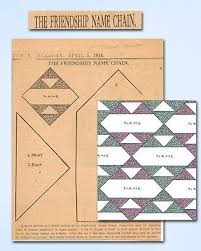 897 best BLOCKS PATTERNS images on Pinterest | Quilting patterns ... & 1940s Old Kansas City Star Quilt Pattern 1944 The Friendship Name Chain  Quilt Adamdwight.com
