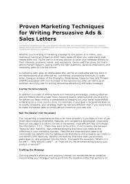 5 Best Images Of Persuasive Sales Letter Template - Sample