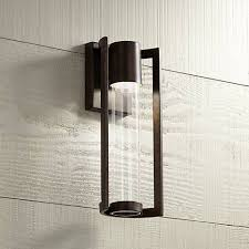 led outdoor wall lights. Maxfield Bronze 15\ Led Outdoor Wall Lights L
