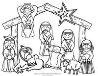 Small Picture Nativity Printable Play Set