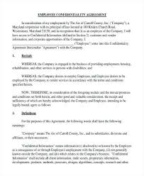 Confidentiality Agreement Free Template Simple Free Confidentiality Agreement Forms Documents In Word Resume