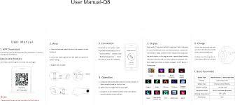 <b>Q8 Smart watch</b> User Manual Shenzhen <b>newwear</b> technology