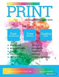 Free Print Shop Flyer Template Download Flyers In Photo Collage
