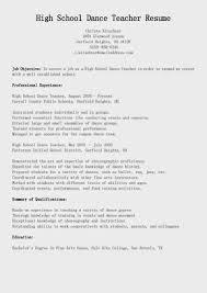 11 Beautiful Resume Format For Dance Teacher Sample Instructor