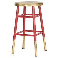 gold counter stools. Safavieh 24-inch Emery Red/ Gold Counter Stool Stools