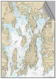 Neponset Reservoir Depth Chart Amazon Com Narragansett Bay Ri Decorative Nautical Chart