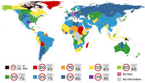 Image result for Today speed limits across the country vary between 35 and 40 mph in congested urban areas and 75 mph on long stretches of rural highway. U.S. d