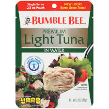 ble bee tuna and seafood s ble bee premium light tuna in water pouch