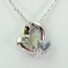 4 degrees celsius k18wg aquamarine diamond heart pendant f236 10