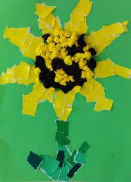Sonnenblume Mit Schnipseltechnik Kinderspiele Weltde
