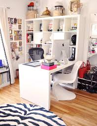 ikea office inspiration. Ikea Expedit Desk In Home Office With Zebra Rug And Panton Chair Inspiration R