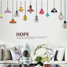 diy pvc removable art vinyl retro edison bulb chandelier living room decoration wall sticker decal mural room decor vintage light bulbs decal sticker souq