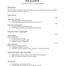 Simple Resume Template Word Interesting Simple Resume Formats Elegant Adorable Microsoft Word Free Templates