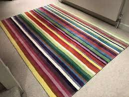ikea strib multi coloured large pure wool striped rug