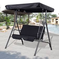 iron rod furniture. furniture patio swing canopy replacement person with brwon polished rod iron outdoor glider 2 black wicker