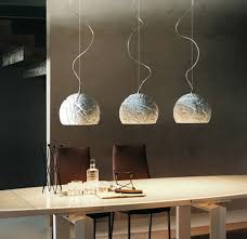over table lighting. modern dome pendant lights over lacquered dining table lighting