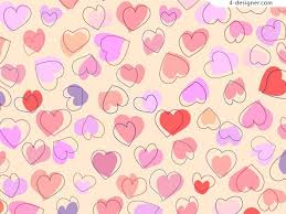 4 Designer Hand Drawn Style Cute Heart Shaped Background