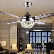 fan on sale. changeable light 18w ceiling fans crystal lamp with remote control 42-inch 220v 110v modern lights metal blade fan on sale