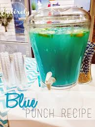 Blue Baby Shower Punch Click For The Recipe Served In Mason Jars Blue Punch For Baby Boy Shower