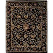 classic oriental black wool area rug hobbes classic oriental black wool area