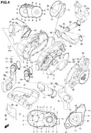 suzuki quadmaster lt af oem parts babbitts suzuki crankcase cover model y