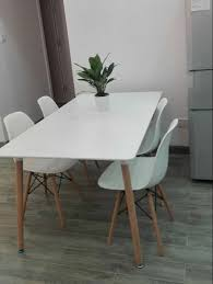 Minimalist Modern Design Dining Furniture Set 1 Table 4 Chairs