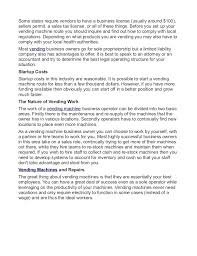 Vending Machine License Extraordinary Vending Machine Business Marketing Plan