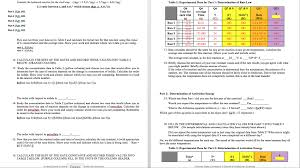 Lab Report Worksheet: What Are The Kinetics Of An ... | Chegg.com