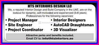 Well Reputed Interior Design Company In UAE Urgently Requires
