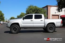 Fuel Anza Matte Black w/ Anthracite Ring on 2006 Toyota Tacoma w ...