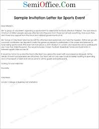 Letter Of Invitation To Sports Event