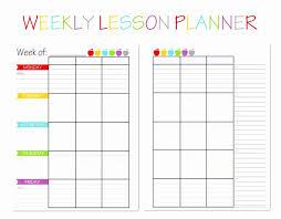 Editable Weekly Lesson Plan Mplate Printable Pdf Blank