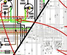 1969 vw bug ebay 1969 Beetle Wiring Diagram vw beetle bug 1968 1969 color wiring diagram 11x17 1968 beetle wiring diagram